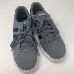 Adidas Neo Cloudfoam Gray Black Sneakers 8.5